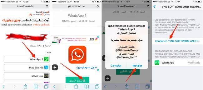 Pasos para tener dos WhatsApp en un iPhone