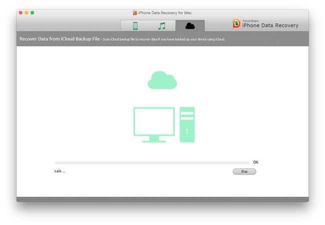 Recuperando datos desde iCloud con Tenorshare iPhone Data Recovery