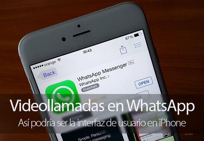 Interfaz de las Videollamadas WhatsApp para iPhone