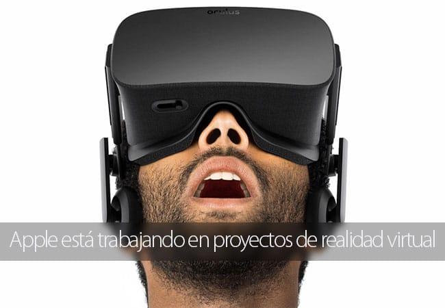Apple ya trabaja en proyectos de realidad virtual