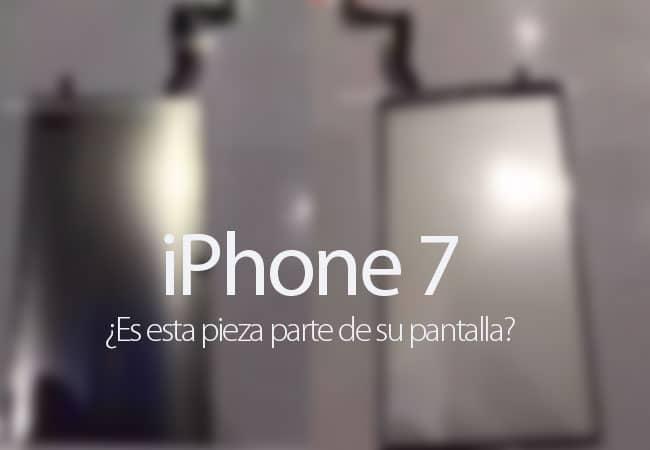 Se filtra parte de la supuesta pantalla del iPhone 7