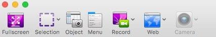 Herramientas de captura de pantalla de Voila para Mac