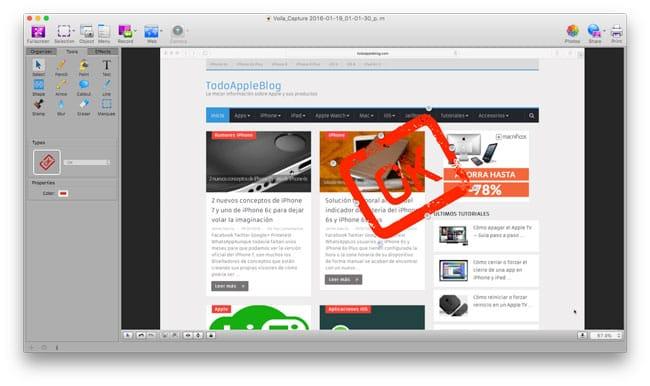 Herramientas de edición de Voila para Mac