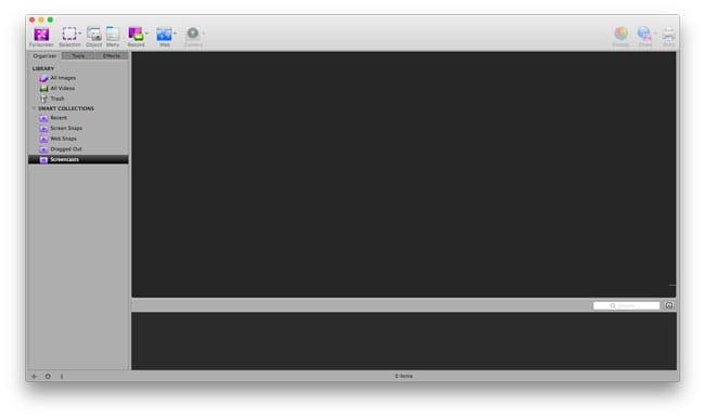 Interfaz de Voila para Mac