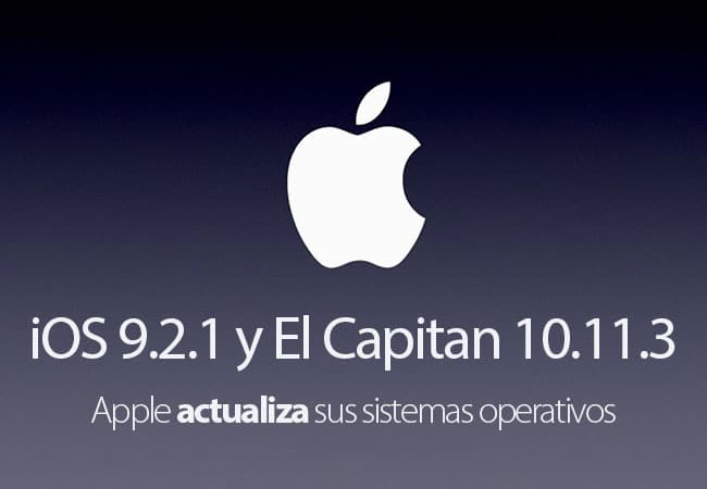 Apple libera iOS 9.2.1 y OS X 10.11.3