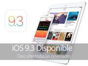 Novedades de iOS 9.3