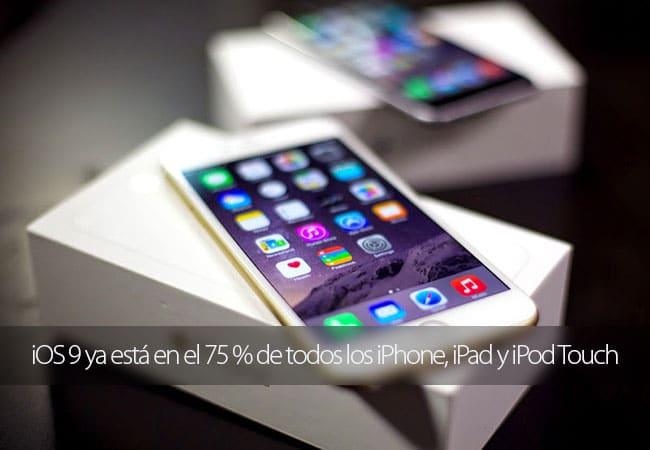 iOS 9 sigue creciendo a un ritmo elevado