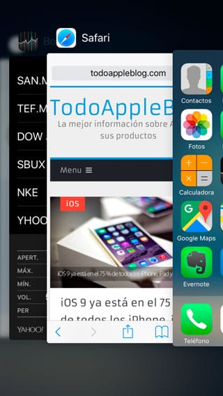 Multitarea de iPhone