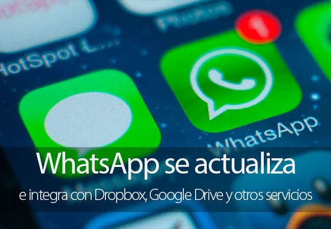 Actualización de WhatsApp para iPhone
