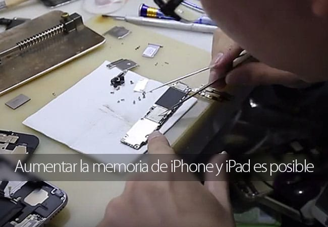 Aumentar memoria iPhone y iPad