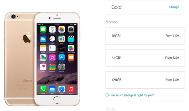 Capacidades iPhone 6