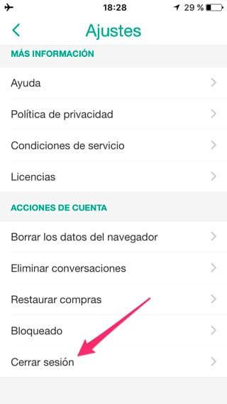 Cerrar sesión Snapchat