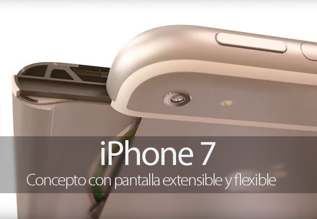 Concepto de iPhone 7 con pantalla extensible