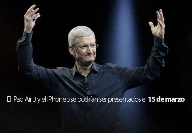 Apple podría estar preparando un evento para el 15 de marzo