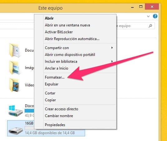 Formatear pendrive en Windows