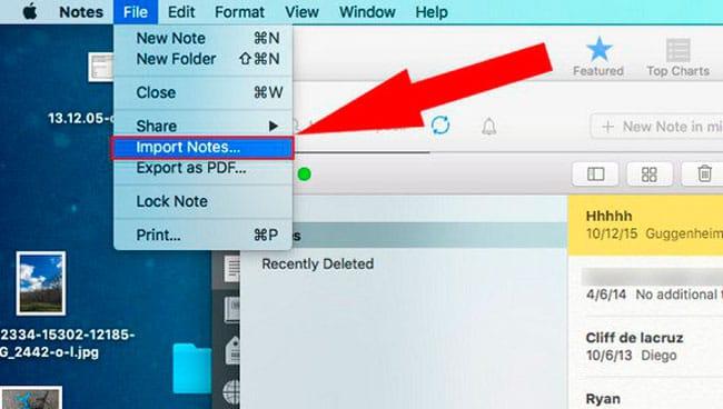 Importar Notas desde Evernote