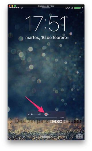 Iniciar grabación pantalla iPhone en QuickTime para Mac