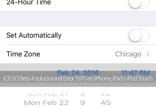 iOS 9.3 Beta 4, soluciona el error 1970