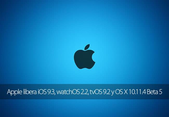 Apple libera actaulizaciones de todos sus sistemas operativos