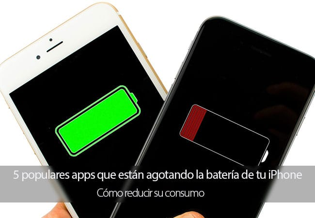 Apps populares que están agotando la batería de tu iPhone