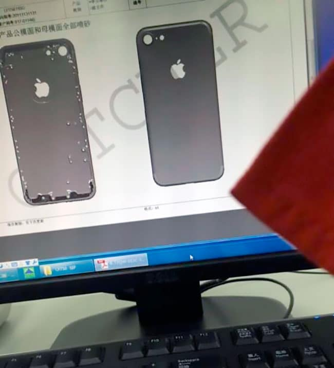 Posible esquema de iPhone 7
