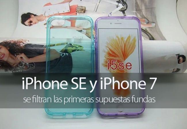 Fundas filtradas para iPhone 7 y iPhone SE