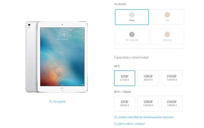 Precios y modelos de iPad Pro de 9,7 pulgadas