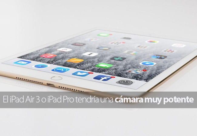 iPad Pro con cámara potente