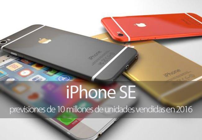 Apple podría vender 10 millones de iPhone SE durante 2016 según los analistas