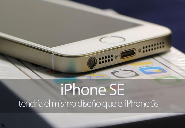 iPhone SE mismo diseño que el iPhone 5s