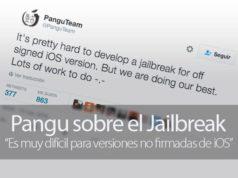 Pangu cree que el Jailbreak en versiones no firmadas es muy difícil