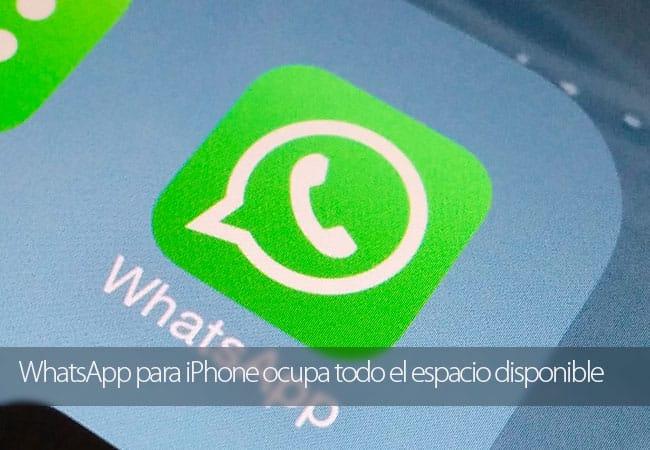 WhatsApp ocupa todo el espacio de almacenamiento de los iPhone