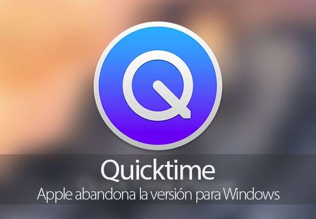 Apple abandona QuickTime para Windows