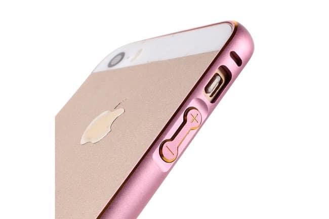 Bumper Metal Design de colores para iPhone SE