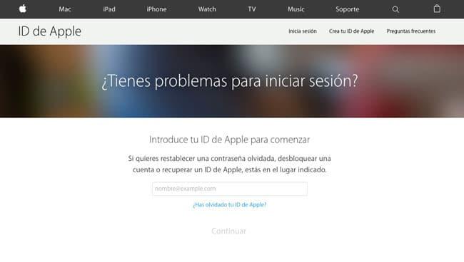 Herramienta iForgot de Apple para recuperar Apple ID bloqueados