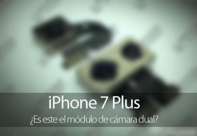 Filtración del módulo de la cámara del iPhone 7 Plus