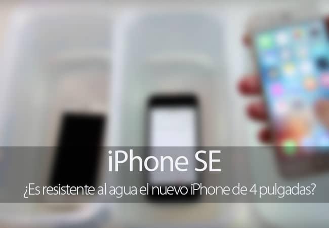 Test de resistencia al agua del iPhone SE