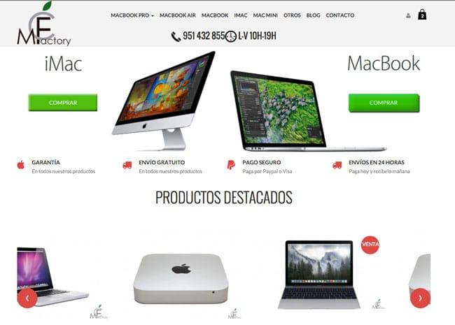 Portada de la web McFactory.es
