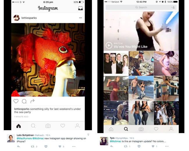 Instagram, posible nuevo diseño