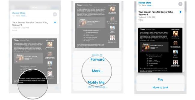 Vista Previa Mail con 3D Touch