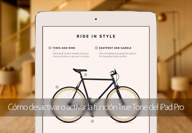 Activar y desactivar True Tone en el iPad Pro