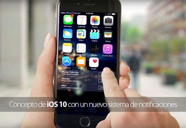 Concepto de iOS 10 con un nuevo sistema de notificaciones