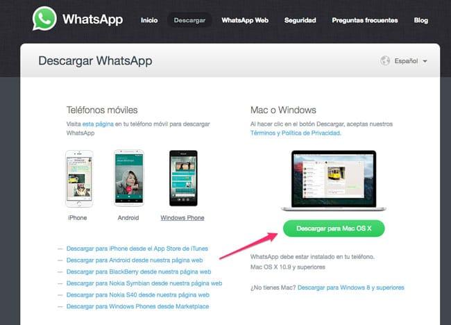 Descargar WhatsApp para Mac