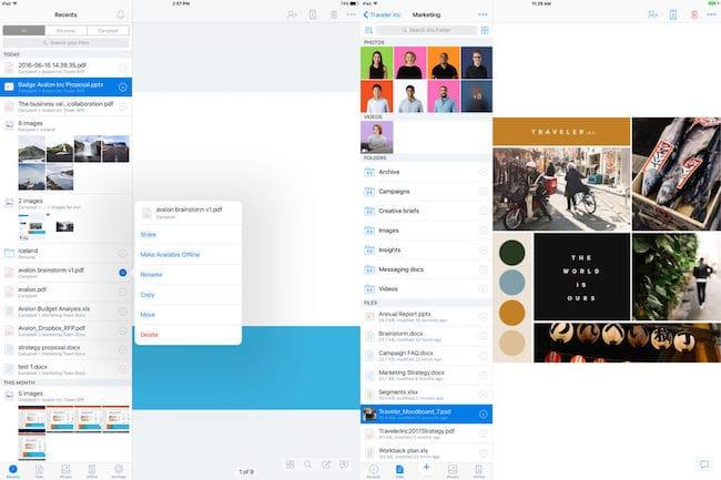 Dropbox para iPad