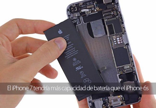 Posible aumento de capacidad de la batería del iPhone 7