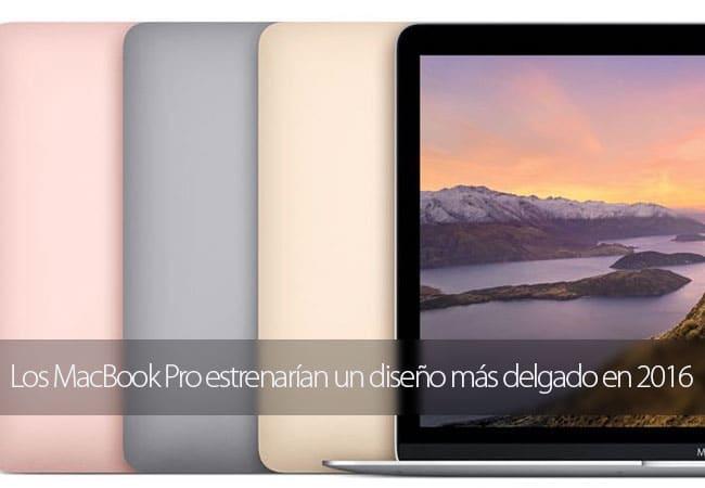 Nuevo diseño MacBook Pro