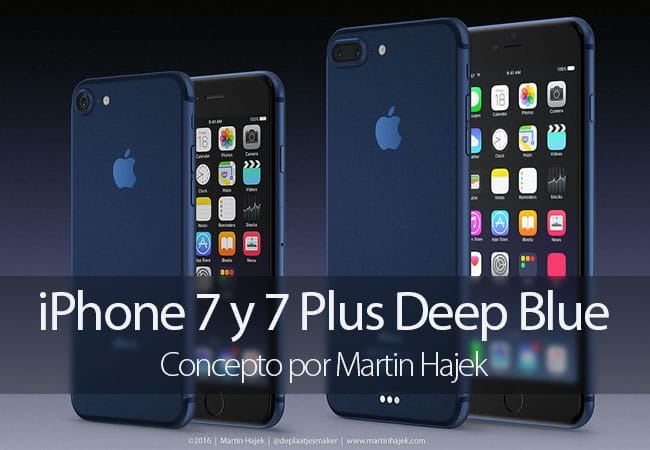 Concepto de iPhone 7 Deep Blue