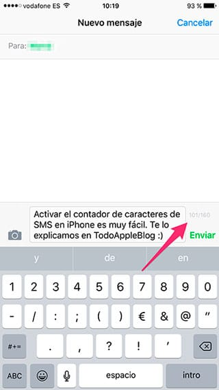 Contador de SMS iPhone