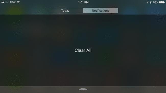 Borrar todas las notificaciones
