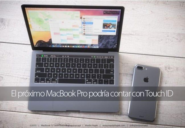 El próximo MacBook Pro podría contar con Touch ID